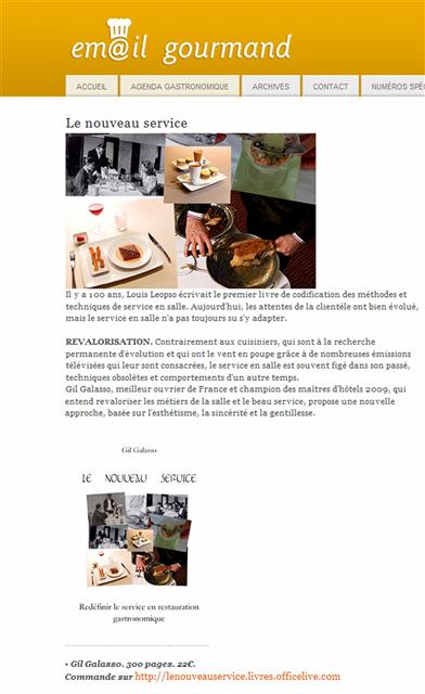 L'email gourmand
