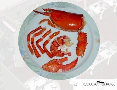 La découpe d'un homard