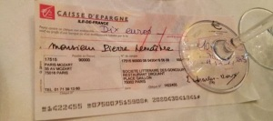 Chèque Prix Goncourt 2013