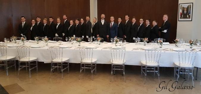 stanislas verpoort et l'équipe de l'école hôtelière de biarritz